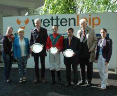 Siegerehrung mit Daniele Porcu, Peter Schiergen, Peter M. Endres. Foto Gabriele Suhr