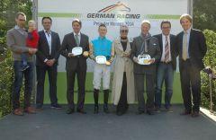 Siegrehrung mit Markus Klug. Martin Seidl, Dr. Paul, Beneikt Fassbender. Foto Gabriele Suhr