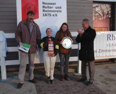 Siegerehrung mit Alexandra Vilmar. Foto Gabriele Suhr