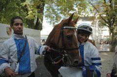 Siegerin Eujeny mit Vinzenz Schiergen. Foto Gabriele Suhr