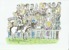 Der Schecke und seine Fans ... Karrikatur: ©miro-cartoon