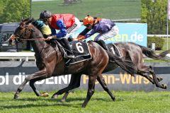 Ein Pferd für große Aufgaben? So Chivalry gewinnt unter Filip Minarik beim Debüt. www.galoppfoto.de - Sandra Scherning