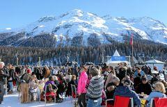 15.000 Zuschauer auf dem St. Moritz-See. swiss-images/Andy Mettler