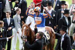 Starspangledbanner mit Johnny Murtagh nach dem Erfolg in den Golden Jubilee Stakes. www.galoppfoto.de - Peter Bell