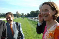 Strahlende Gesichter - Trainer  Peter Schiergen und Ehefrau Gisela nach dem Gr. I-Treffer mit Empoli. Foto: Gabriele Suhr