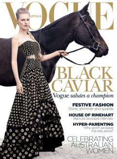 Black Caviar auf dem Titelbild der australischen Vogue ...