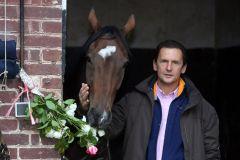 Lässt sich die Rosen schmecken ... die Arc-Siegerin mit ihrem Trainer Carlos Laffon-Parias nach dem großen Erfolg in ihrem Stall in Chantilly. www.galoppfoto.de - Frank Sorge