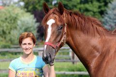 Vanjura und Yvonne Dzubasz im Portrait. www.galoppfoto.de