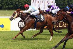 Wirrwarr holt das Rennen nach Tschechien. www.galoppfoto.de - Sabine Brose