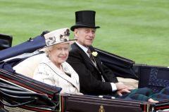 Prinz Philip mit seiner Gattin 2008 in Royal Ascot. www.galoppfoto.de