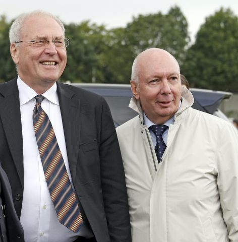 Der Präsident von Deutscher Galopp, Michael Vesper (links), ist für den neuen Vorstand des Dachverbandes gesetzt, auch Manfred Ostermann als Präsident der Besitzervereinigung gilt als sicherer Kandidat. www.galoppfoto.de
