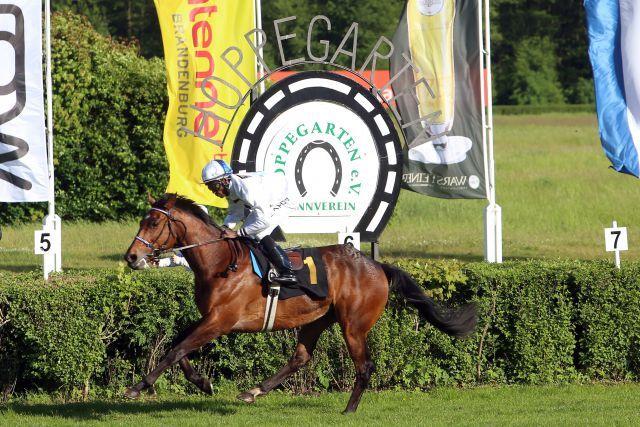 Kamen von hinten und hatten die Ruhe weg: Altano schaffte den Hattrick mit Eduardo Pedroza im Oleander-Rennen. www.galoppfoto.de - Frank Sorge