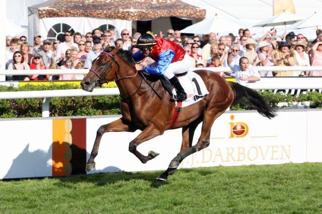Derbysieger 2009: Wiener Walzer im Frederik Johansson. www.galoppfoto.de - Sabine Brose