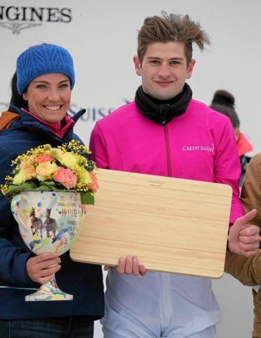 Valeria Hollinger darf am Sonntag wieder ran, Lukas Delozier hat Taron schon einmal gut vorbereitet. Foto: swiss-image/Andy Mettler