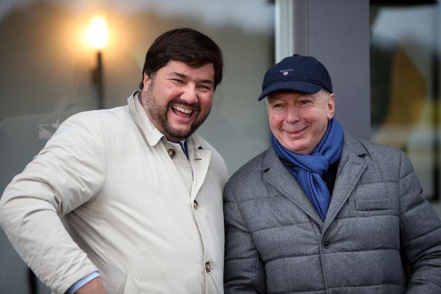 Der Geschäftsführer der Besitzervereinigung, Daniel Krüger (links), und der Präsident Manfred Ostermann. www.galoppfoto.de - Frank Sorge