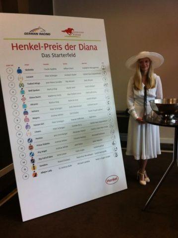 Die Weiße Dame von Persil war bei der Auslosung die Glücksfee. Foto: privat