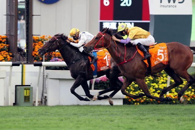 Golden Sixty muss bei seinem 17. Sieg mehr tun als erwartet. Foto: HKJC