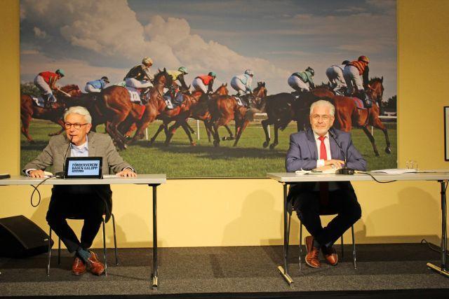 Gründung Förderverein Baden-Galopp e.V. Iffezheim: Peter Werler, 1. Vorsitzender und , Martin Kronimus, stellvertretender Vorsitzender. ©Förderverein Baden Galopp