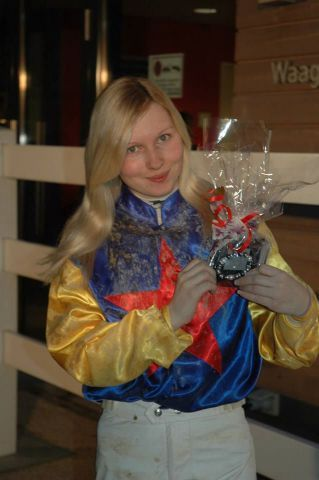 Führt nach dem ersten Lauf in der Perlenkette und feiert am Dienstag ihren 22. Geburtstag - Jana Oppermann. Foto: Gabriele Suhr