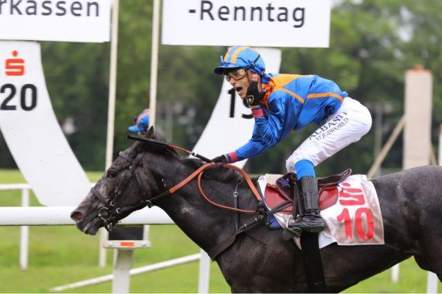 Nica siegte unter Carlos Henrique im Großen Preis der Sparkasse Dortmund auf Listenparkett. Foto: Stephanie Gruttmann