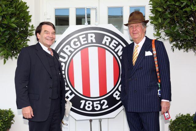 Präsident Eugen-Andreas Wahler und Vize Albert Darboven kämpfen für das Derby in Hamburg. www.galoppfoto.de - Frank Sorge