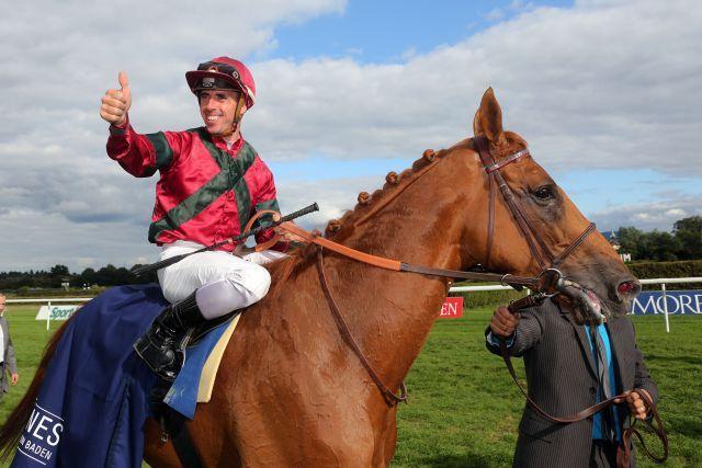 Prince Gibraltar und Fabrice Veron gewannen des Großen Preis von Baden im letzten Jahr. www.galoppfoto.de - Frank Sorge