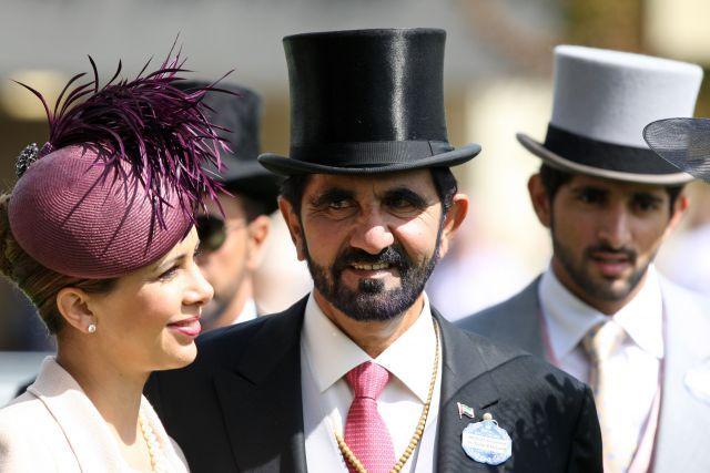 Freuen sich über ihr zweites gemeinsames Kind: Princess Haya of Jordanien mit ihrem Mann, Sheikh Mohammed bin Rashid al Maktoum. www.galoppfoto.de