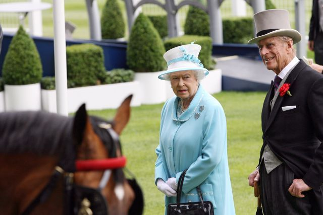 Queen Elizabeth II und Prinz Philip in Royal Ascot. www.galoppfoto.de