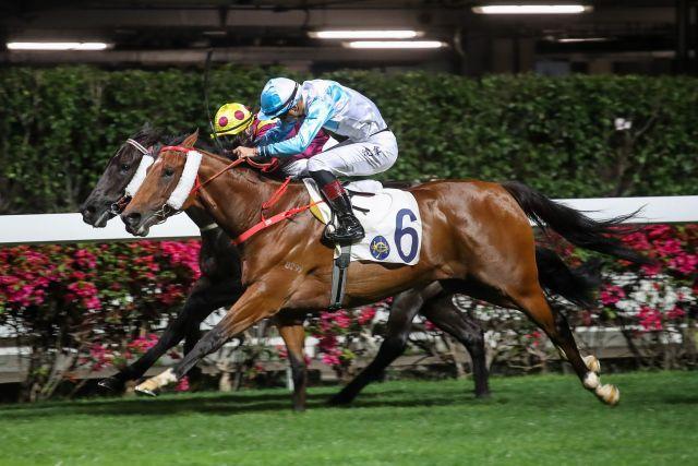 Ruletheroost gewinnt in Happy Valley für die Etzeaner Zucht. Foto: HKJC