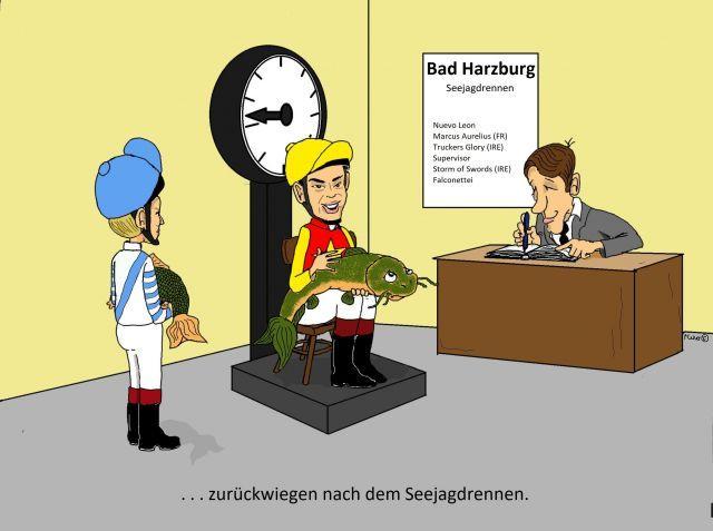 Fette Brocken locken im Harzburger See am Sonntag ... ©miro-cartoon