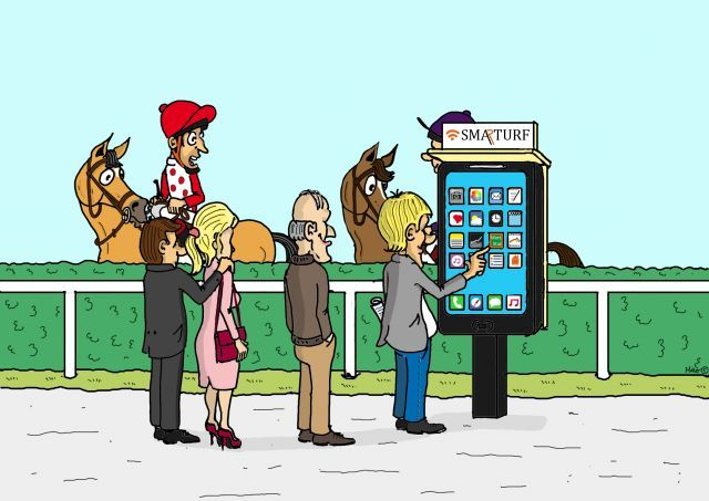 Einmal Aufladen bitte! Danach kann man bequem per Smartphone wetten. ©miro-cartoon