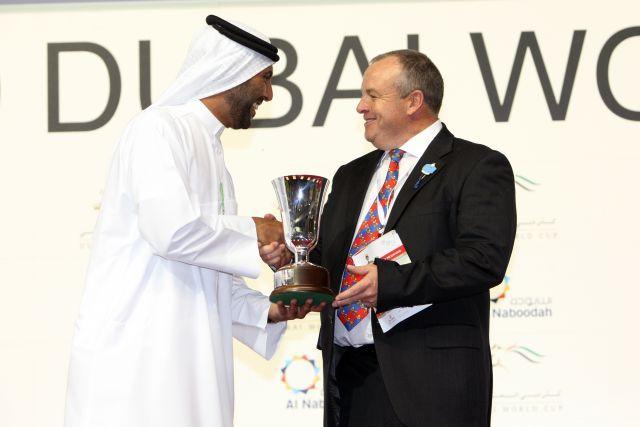 Trainer Mike de Kock war in Dubai schon ein häufiger Gast auf dem Siegerpodest. www.galoppfoto.de - Frank Sorge