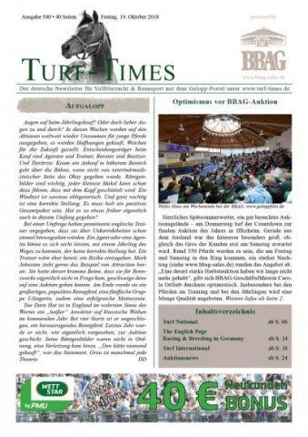 Turf-Times - der Newsletter: Aufgabe 540 liegt frisch zum Download bereit ....