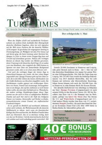 Der neue Newsletter von Turf-Times, Ausgabe 666.