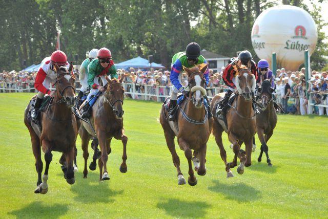Vom 16. bis zum 18. August gibt es auf der Osteebahn in Bad Doberan wieder spannende Pferderennen. Foto: offiziell