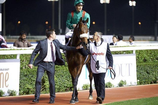 Zarak überzeugt bei seinem ersten Start in Dubai. Foto: DRC/Andrew Watkins