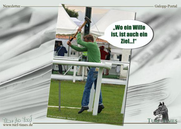 Wo ein Wille ist, ist auch ein Ziel ... Foto: www.galoppfoto.de/Bearbeitung Silvia Göldner