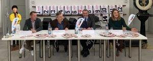 Pressekonferenz vor dem 100. Großen Preis der Landeshauptstadt Düsseldorf mit (v.l.n.r.)