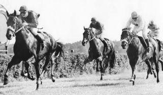 Falkensee (K. Neuhaus) – gewinnt den Grand Prix der DDR 1976 vor Bandora (K. Otto) und Tauchsport (M. Rölke). Foto Archiv Graage