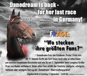 Das Turf-Times-Gewinnspiel: Wer ist der größte Danedream-Fan? Für mehr Infos auf das Foto klicken!