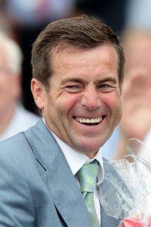 Freut sich über seinen 5. Derbysieg: Trainer Peter Schiergen. www.galoppfoto.de - Frank Sorge