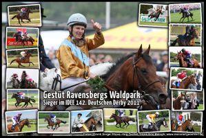 1 gegen18: Derbysieger Waldpark mit Jozef Bojko 2011. www.galoppfoto.de - www.klatuso.de - www.turfstock.com