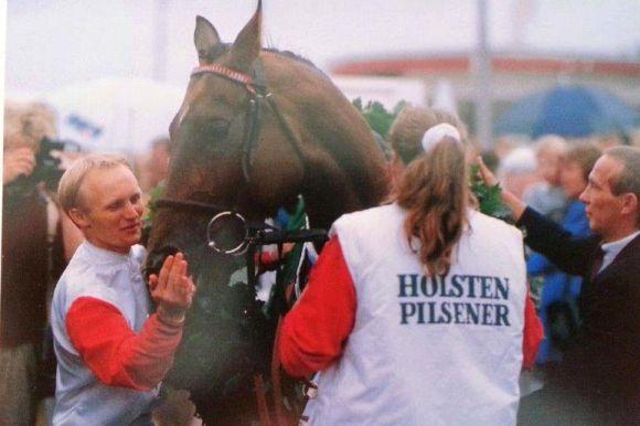 Derbysieger Mondrian mit Uwe Stoltefuß und Kevin Woodburn 1989