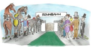 Beim Start in die Grasbahn-Saison ist das Interesse groß .... ©miro-cartoon