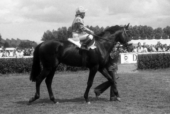 Jockeylegende Erwin Schindler saß schon 1979 im Rennsattel - wie hier in Hamburg auf Star