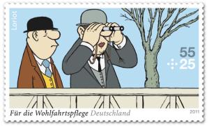 Die Briefmarke zum Sketch