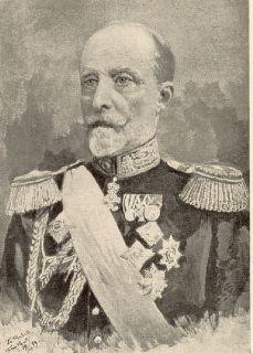 Oberstallmeister Graf Georg von Lehndorff um das Jahr 1899 in der Uniform der preußischenn Oberlandstallmeister