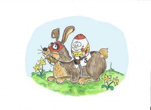 Der Osterhase hat aufgesattel ... ©miro-cartoon