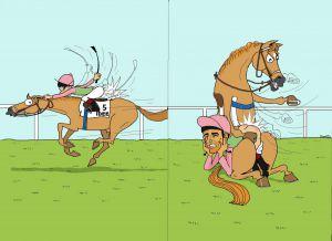 Auch eine mögliche Antwort für alle Jockeys, die nicht bis fünf zählen können ...
