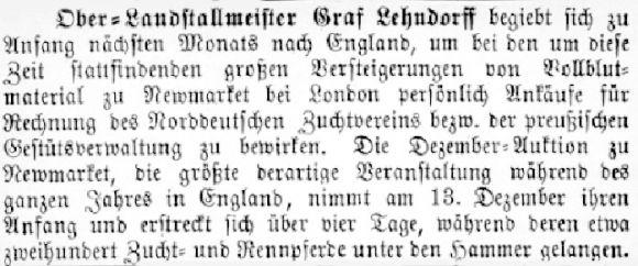 Quelle 'Das Pferd' v. Nov. 1892